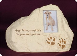 Dog Paw Prints Rock