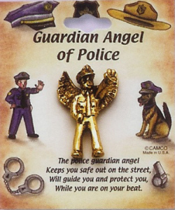 Police Guardian Angel Pin