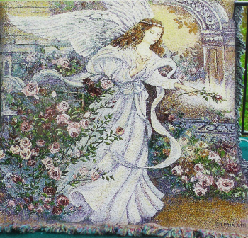 Angel Of Love Tapestry Throw
