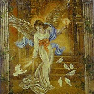 Angel Of Light Tapestry Throw