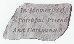 In Memory Pet Stone - 699