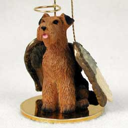 Airedale Dog Angel Ornament