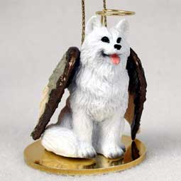 American Eskimo Dog Angel Ornament