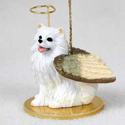 American Eskimo, Miniature Dog Angel Ornament