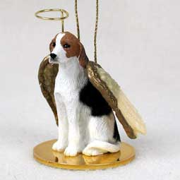 American Foxhound Dog Angel Ornament