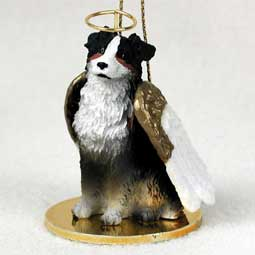 Australian Shepherd, Tri-Color Dog Angel Ornament