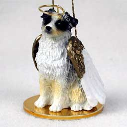 Australian Shepherd, Blue Dog Angel Ornament