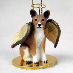 Basenji Dog Angel Ornament