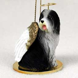 Bearded Collie Dog Angel Ornament