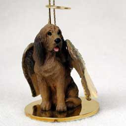 Bloodhound Dog Angel Ornament