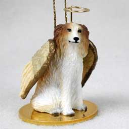 Borzoi Dog Angel Ornament