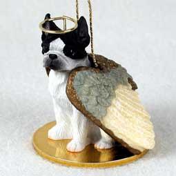 Boston Terrier Dog Angel Ornament