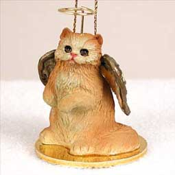Persian Red Cat Angel Ornament