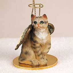 Shorthair, Brown Tabby Cat Angel Ornament