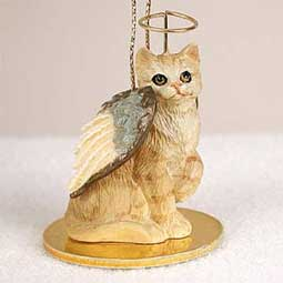 Shorthair, Red Tabby Cat Angel Ornament