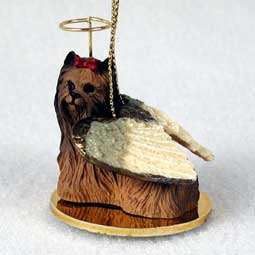 Yorkshire Terrier Dog Angel Ornament
