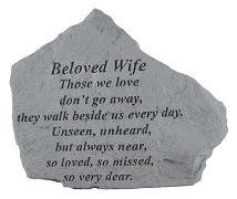 Beloved Wife Memorial Rock, Small - 154