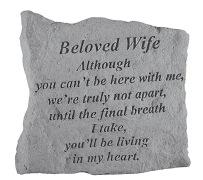 Beloved Wife Memorial Rock, Small - 161