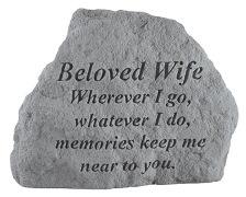 Beloved Wife Memorial Rock, Small - 168