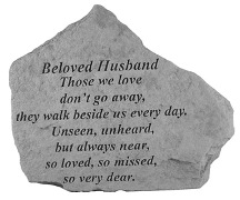 Beloved Husband Memorial Rock, Small - 155
