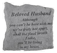 Beloved Husband Memorial Rock, Small - 162