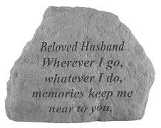 Beloved Husband Memorial Rock, Small - 169