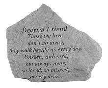 Dearest Friend Memorial Rock, Small - 156