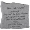Dearest Friend Memorial Rock, Small - 163