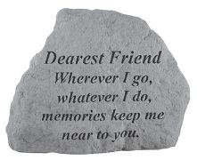 Dearest Friend Memorial Rock, Small - 170
