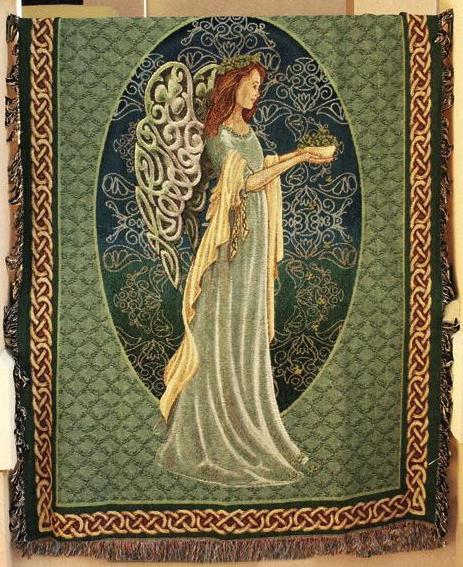 Irish Angel Tapestry Throw