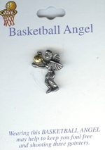 Basketball Guardian Angel Pin