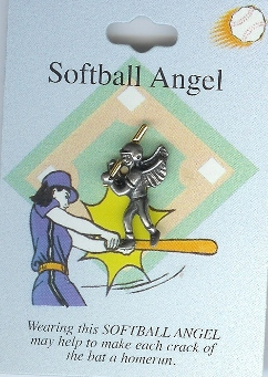 Softball Guardian Angel Pin