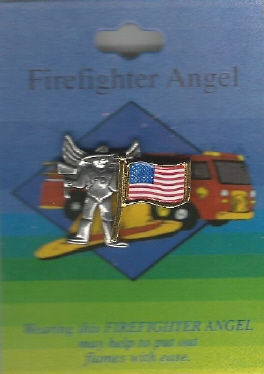 Fire Fighter's Guardian Angel Pin