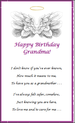 Greeting Card Grandma