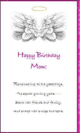 Amazing Greeting Card Mom Angelas Angels Gift Shop Personalised Birthday Cards Bromeletsinfo