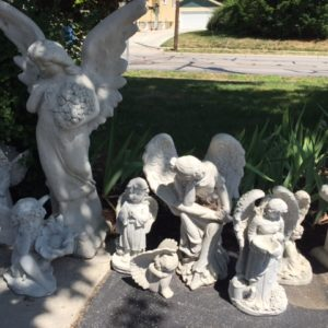 concrete fairies and angels - Concrete Garden Decor
